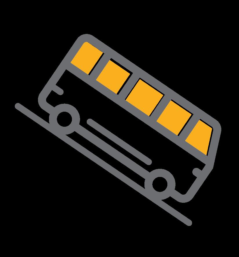 ilustracion bus en bajada