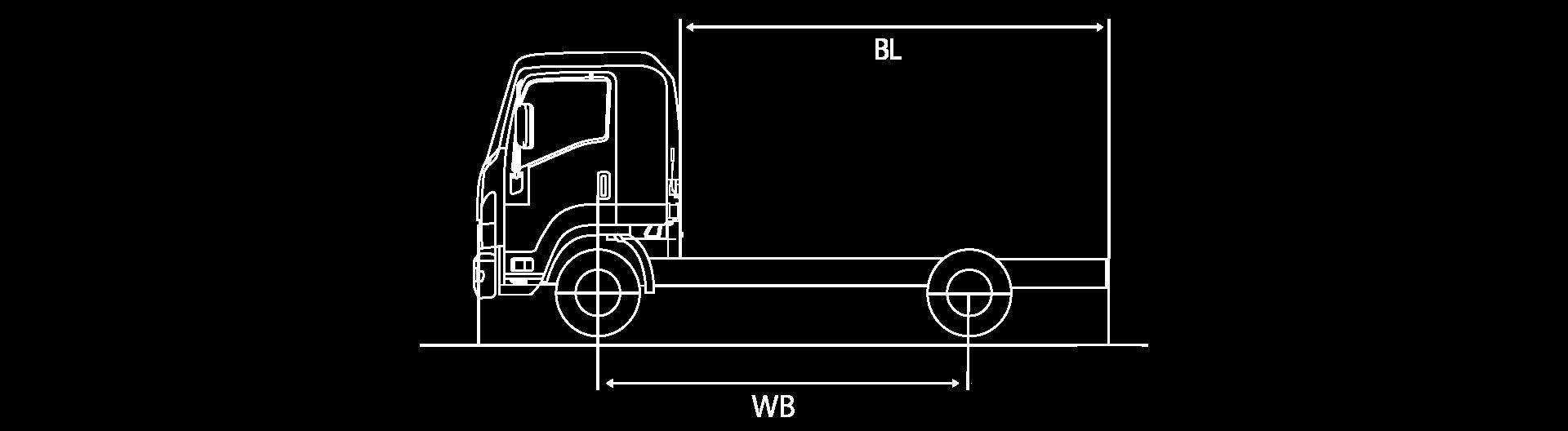medidas bl y wb camion chevrolet