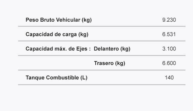 Ficha tecnica peso BUSETON NQR 9.2T REWARD EV